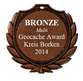 BRONZE (Multi) - Geocaching Award Kreis Borken 2014