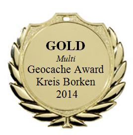 GOLD (Multi) - Geocaching Award Kreis Borken 2014